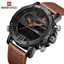 731738509e5 NAVIFORCE Marca De Luxo Mens Relógios De Couro Dos Homens Relógios  Desportivos Militar Relógio de Pulso de Quartzo dos homens LE.
