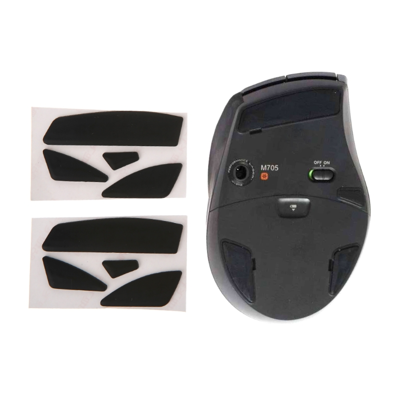 2 Sets 0.6mm Thickness Replacement Mouse Feet Mouse Skates for Logitech M705