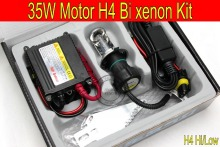 Free Shipping 1 set Top quality 35W H4 Hi/low bi xenon Motorcycle HID Conversion Kit/Xenon Kit,3000K,4300K,6000K,8000K,10000K
