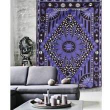 Wall Hanging Purple Tapestry 210X145cm Bohemian Throw Blanket Bedspread Dorm Cover Mat Rug Home Room Wall Decor Accessories