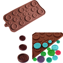 Button Shaped 3D Silicone Mold DIY Fondant Mold Baking Tool Chocolate Cookies Pastry Candy Jelly Decor Kitchen Tool Random Color(China)