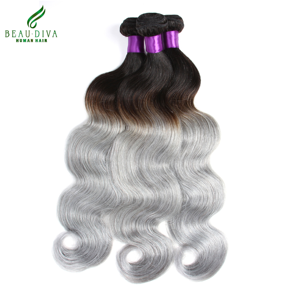 New 3Pcs 7A Human Virgin Ombre Brazilian Hair Body Wave Grey Hair Weave Soft Platinum Silver Grey Ombre Hair Extensions<br><br>Aliexpress