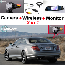 3in1 Special WiFi Camera + Wireless Receiver + Mirror Monitor Rear View Parking Back Up System For Mercedes Benz C Class MB W204(China)