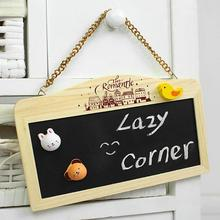 Exempt postage, hanging chain double-sided magnetic message board, the blackboard, children's educational toys, wooden toys(China)