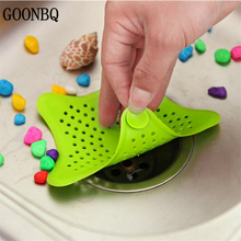 GOONBQ 1 pc Star Floor Drain Rubber Kitchen Bathroom Shower Drain Cover Hair Filter Sink Strainer Five-Point Star Clogging
