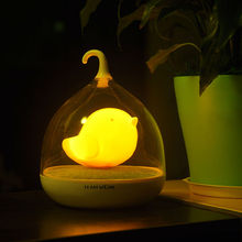 Creative Bird LED Night Light Rechargeable Touch Dimmer Sensor Desk Table USB LED Lights For Baby Bedroom Sleep Lighting Light(China)