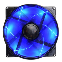 New Computer PC Cooling Fan 4 Pin Intelligent Blue LED Cooler Cooling Fan for Computer Case 120mm