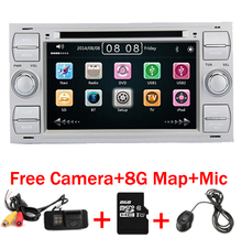 2 Din 7 Inch Car DVD Player For Ford Focus Kuga Transit With 3G GS Bluetooth Radio RDS USB SD Steering wheel control Free Map(China)