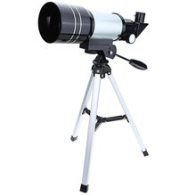 F30070M 15x/150x Refractive Outdoor Monocular Astronomical Telescope With Portable Tripod Spotting Scope Silver Color
