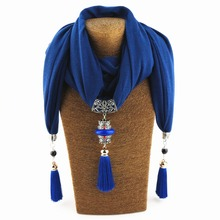 New Popular Now Ethnic Bohemia Colorful Tassel long Geometric pendant scarf Necklace Women  Jewelry WF23