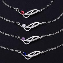 Four Colors Stone Lose Money Foot Jewelry,Fashion Silver Plated Anklets,Simple Geometry Delicate Handmade Cheap Anklet For Women