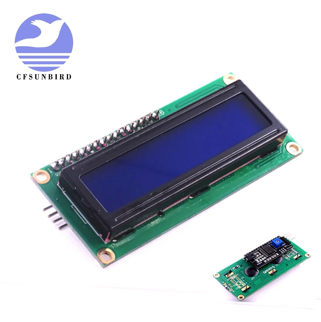 10PCS Yellow Display IIC//I2C//TWI//SPI Serial Interface 1602 16X2 LCD Module new