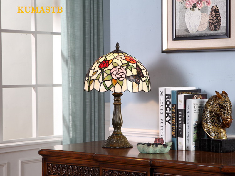 Stained Glass Desk Lamp 12