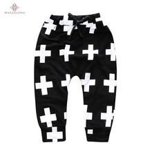 Wasailong Fashion Kids Boys Harm Pants Nununu Cross  Design Toddler Boys Trousers Children Boys Casual Sport Pants Baby Clothes
