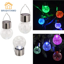 4pcs Solar Power LED Light Waterproof Color Changing LED lamp Ball Lighting Outdoor Hanging Garden Light Countryard Decoration(China)