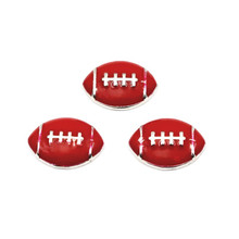 Buy 10pcs/lot Enamel Red Football Floating Locket Charms Fit Living Glass Floating Lockets Necklace Bracelet DIY Jewelry for $1.50 in AliExpress store