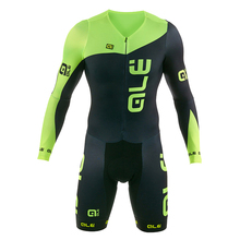 Summer Fluorescence Green stitching black Skinsuit jumpsuit Men's Sportswear Coveralls bike riding Clothing Cycling MTB Clothes