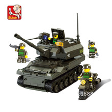 258 pieces baby boy blocks plastic Model Building Kits K-9 Tank bricks toys boy style building Army blocks toys N9800(China)