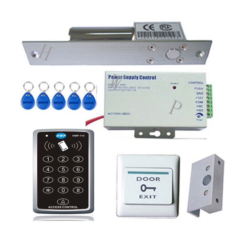 RFID access control kit Access control with bolt lock Glass door keypad kits Mortise lock<br>