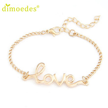 Diomedes Gussy Life wholesale 1 PC Fashion Women Love Handmade Alloy Charm Jewelry Bracelet Wristband Bangle Jan22