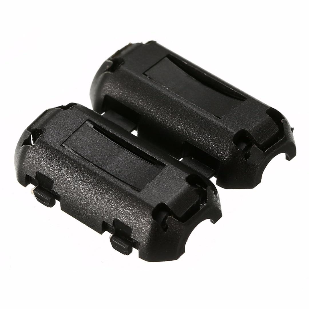 5pcs 3.5mm Noise Suppressor EMI RFI Clip Choke Ferrite Core Cable Filter Nickel-zinc For AV Cable Data Cable