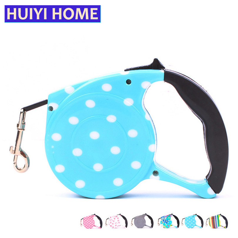 Huiyi Home Retractable Dog Leash 5m Automatic Dog Belt Pet Leashes For Dogs And Cats Animals Puppy Supplies Accessories ENA008(China (Mainland))