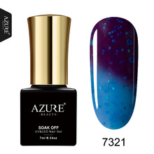 AZURE BEAUTY Thermo Gel Varnish Nail Polish Hot Sale Temperature Change Color Gel Varnishes Soak Off Azure UV Gel Nail Polish(China)