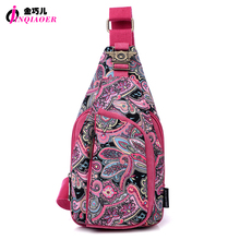 2 Types Vintage 2016 Ethnic Designer Floral Printing Ladies Chest Pack Bags Original Brand Women Small Shoulder Bag Pouch Bolsas