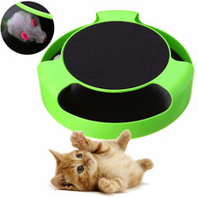 NEW Pet Cat Motion Moving Mouse Toy Funny Faux Mouse Play Toys Interactive Cats Training Scratchpad Catch Board