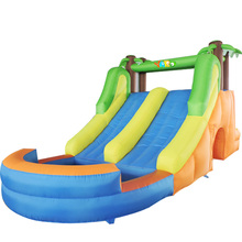 YARD New Design Giant Inflatable Games Long Doule Inflatable Slide And Pool Inflatable Bouncy