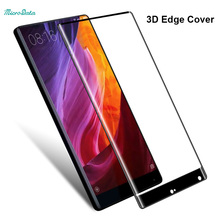 MicroData 9H Hardness Tempered Glass 3D Full Cover Protective Screen Protector For Xiaomi Mi Mix 6.4'' Round Edge Guard Film(China)
