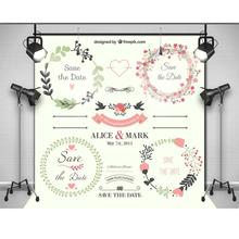 Wedding Scene Welcome Poster Blackboard photo backdrop High-grade Vinyl cloth Computer printed wedding  Backgrounds