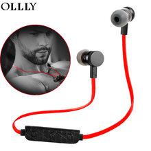 Buy OLLLY Wireless Sport Bluetooth Headphones Wireless Earbuds Mic Stereo Headset Noise Cancelling Neckband Sweatproof Earphone for $10.41 in AliExpress store