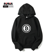 Buy Bitcoin Logo Print Cap Sweatshirt Casual Streetwear Virtual Currency Clothes Winter Hoodie Hipster Outwear Coat for $11.37 in AliExpress store