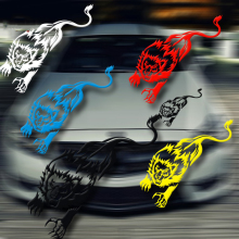 Car-styling running lion style car sticker ,car lamp eyebrow decor sticker,die cut vinyl animal decals cover  accessories