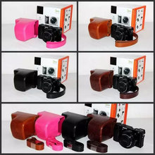 Brown/Pink/Black/Coffe Camera Case Bag Leather Case Cover for Digital Camera Sony A6000 Free Shipping