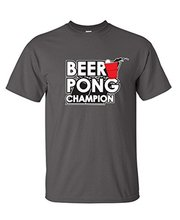 BEER PONG Games Sportser Drinking College Adult Novelty Funny T Shirt for Guys