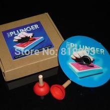 Free shipping! Tiny Plunger (gimmicks+dvd) - Magic Tricks,Stage,comedy,Mentalism magic,Close up,Accessories,illusions,magic toys