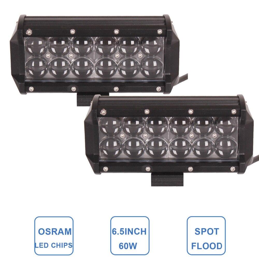 2PCS 60W LED Work Light Bar Car 12V 24V Auto Pickup SUV UTV Truck ATV 4WD 4x4 Boat UTE Wagon Offroad Driving Fog Lamp Headlight<br><br>Aliexpress