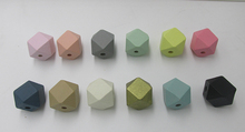 Free shipping!  2017 Newest Pastel 12MM/20MM/14MM/16MM Geometric Wood Beads can mixed 12 colors