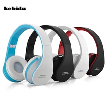 kebidu Hot Wireless Bluetooth Stereo Headphones + Wired Audio Bluetooth Headset Cordless Earphone for Computer PC Head Phone Set(China)