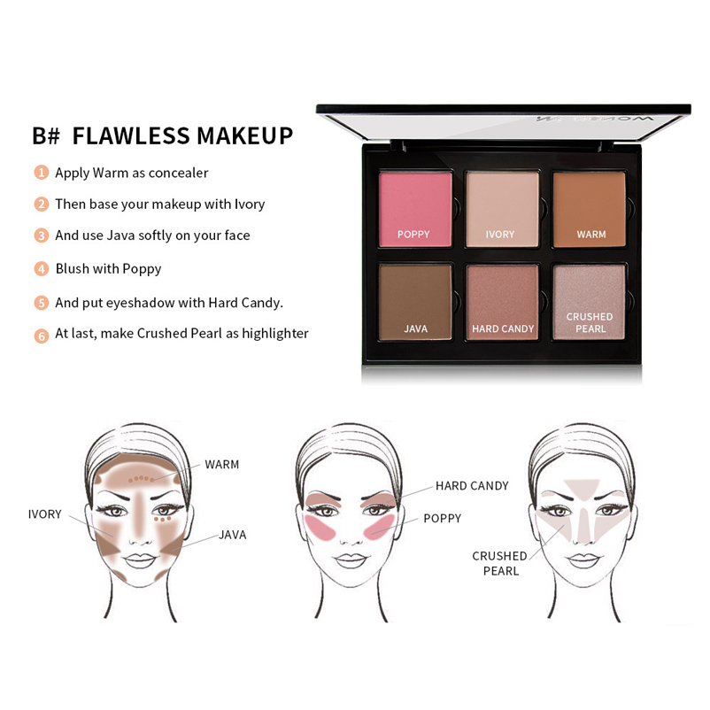 Awesome Grosshandel Menow 6 Farben Blush Face Makeup Naked Shadow Platte Wiring Digital Resources Nekoutcompassionincorg