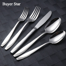 20Pcs/set 18/10 Stainless Steel Tableware Super Quality Cutlery Sets Flatware Dinnerware Dessert Spoon Fork Knife Free Shipping(China)