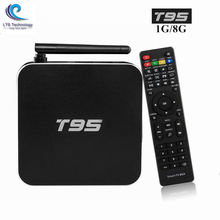 Hot Sale T95 TV Box S905 Quad Core TV Online Player 2.4GHz WiFi HD 2.0 Professional TV Boxes For Android 5.1 Arrivals Sunvell