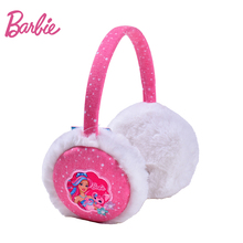 Barbie Winter Women Warm Earmuffs Plush Girl's Earlap Fashion Pink Fashion Ear Warmer With Embroidery Female Ear Cover(China)