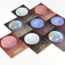 Cute Planet Memo Pads Sticky Notes Kawaii Stickers Scrapbooking Post It Diary Planner Office Stationery and School Supplies(China)