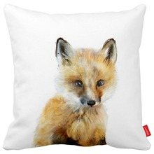 Little Pup Wolf Cat Fox Wildlife Collection Print Canvas Car Decorative Throw Pillowcase Pillow Case Cushion Cover Home Decor