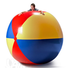 150cm 59inch Gaint Inflatable Beach Ball Charm Super Large Colorful Volleyball For Children Adults Outdoor Lawn Play Games Toys(China)