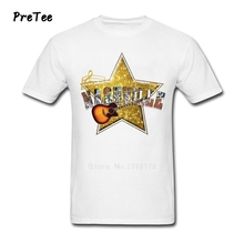 Nashville Music Star Male T Shirt 100% Cotton Short Sleeve Round Neck Tshirt Boy Garment 2017 Modern T-shirt For Guy