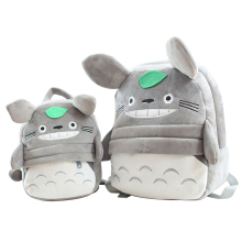 New Arriving Totoro Plush Backpack Cute Soft School Bag for Children Cartoon Bag for Kids Boys Girls(China)